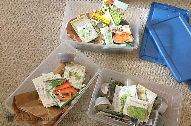 Sorting seed packets by best planting days
