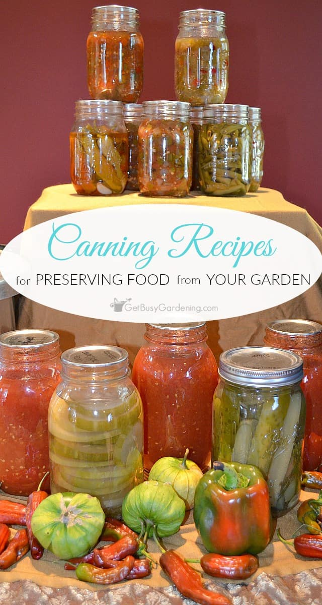 If you're looking for food canning recipes so you can preserve the fruits and vegetables you grew in your garden, I have 24 awesome ones for you to try!