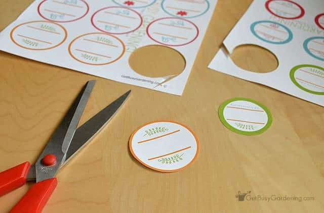 Cut out printed canning labels