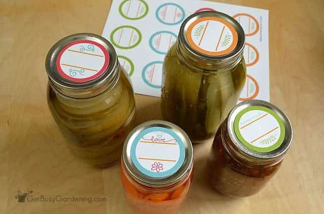 Regular mouth round canning labels