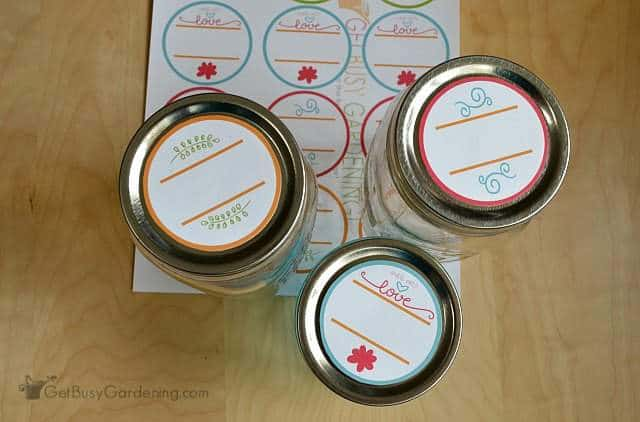 Wide mouth round canning labels