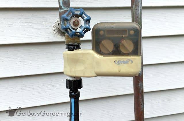 Automatic greenhouse sprinkler system timer