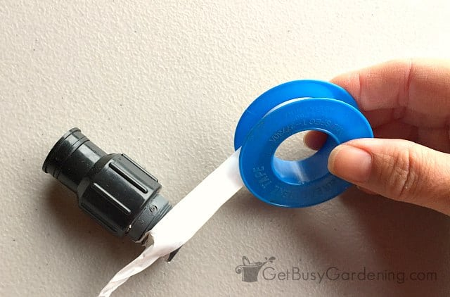 Pipe thread tape helps sprinkler heads fit tightly