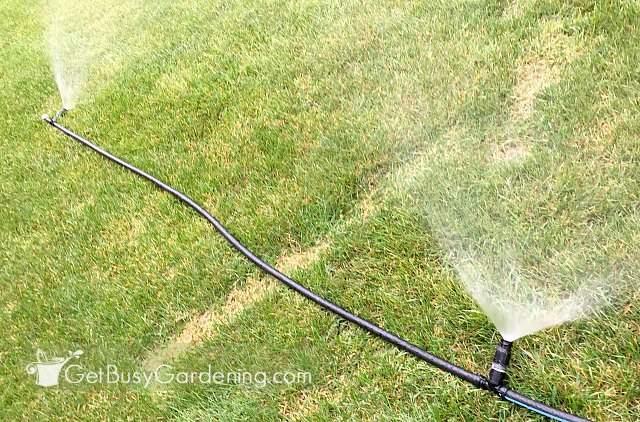 Testing overhead sprinklers for greenhouse before installing