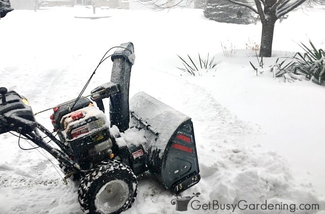 Keep salt-laced snow out of gardens