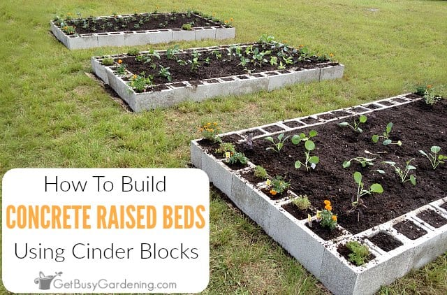 Raised Garden Bed Using Concrete Blocks, How To Make An Easy Raised Garden Bed