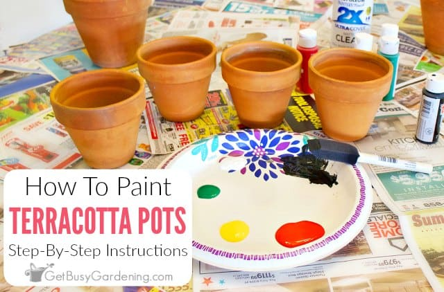 How To Paint Terracotta Pots Step-By-Step
