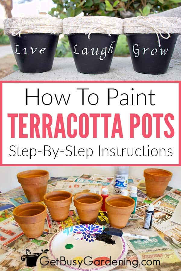 How To Paint Terracotta Pots: Step-By-Step Instructions