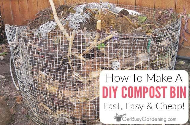 How To Make A Cheap DIY Compost Bin