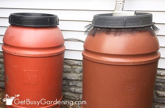 Connecting rain barrels together