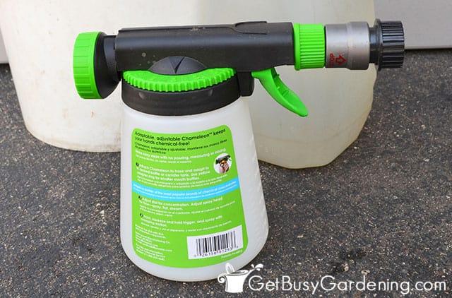 Nematodes sprayer for garden hose