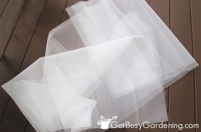 Tulle used for grapevine cover