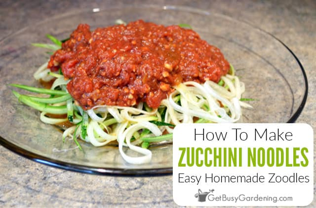 How To Make Homemade Zoodles (Zucchini Noodles)