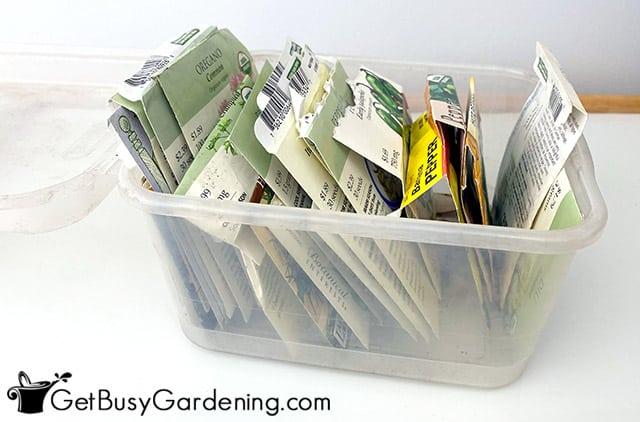 My seed packet organizer box