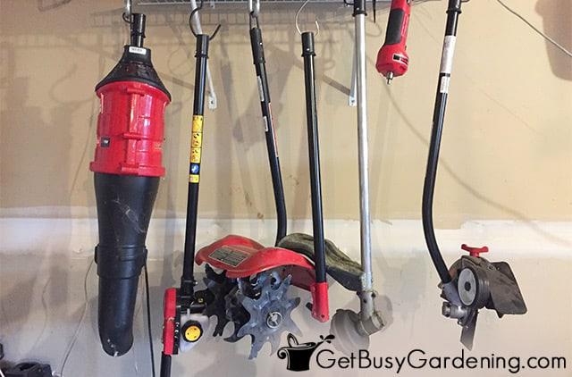 Hanging garden equipment in my garage