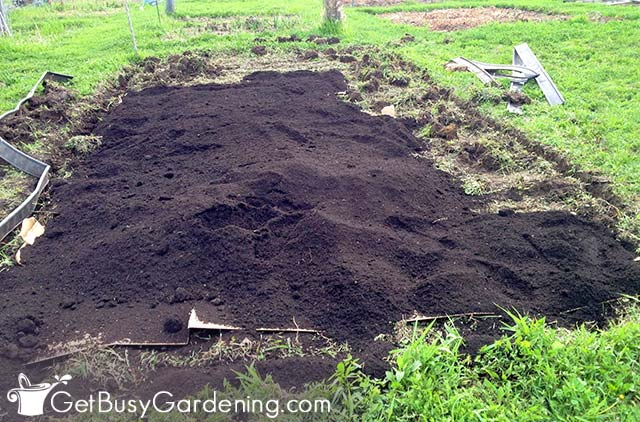 My no till garden bed almost ready for planting