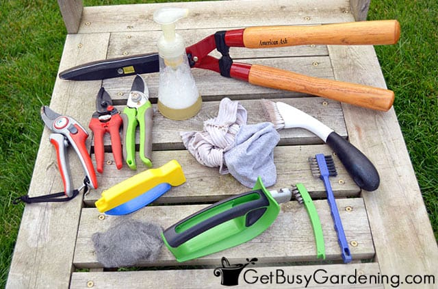 Supplies needed for sharpening garden shears