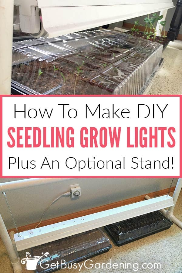 How To Make DIY Seedling Grow Lights Plus An Optional Stand!