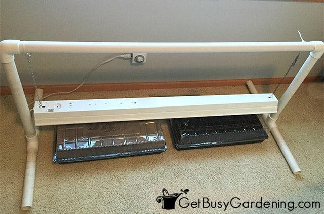Inexpensive DIY grow light for seedlings