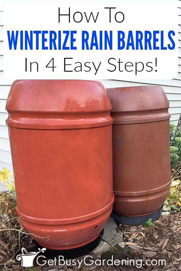 So machen Sie Regenfässer in 4 einfachen Schritten winterfest!
